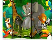 Paraván - Colourful Safari II [Room Dividers]